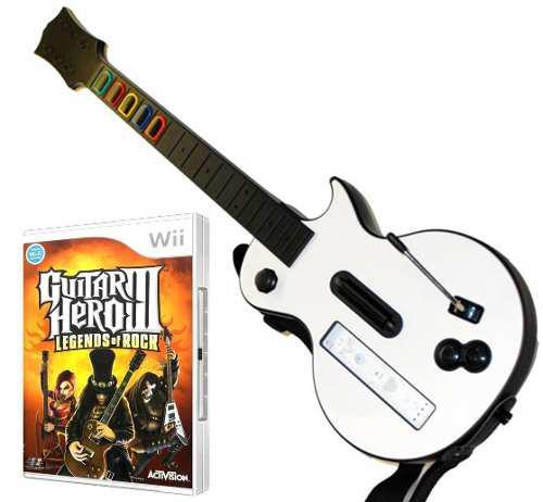 Combo guitarra + juego original guitar hero 3, wii wii u]