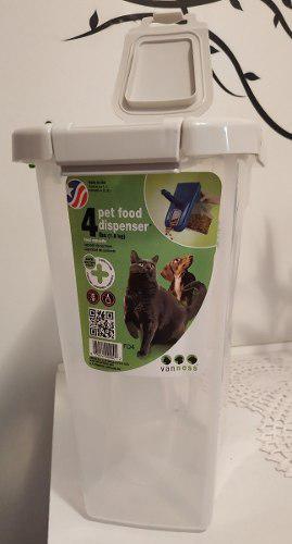 Dispensador de comida van ness para gatos