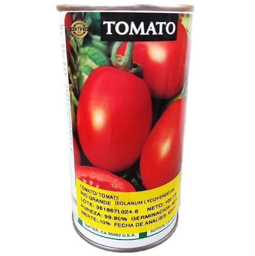 Lata semillas de tomate rio grande 100 gramos