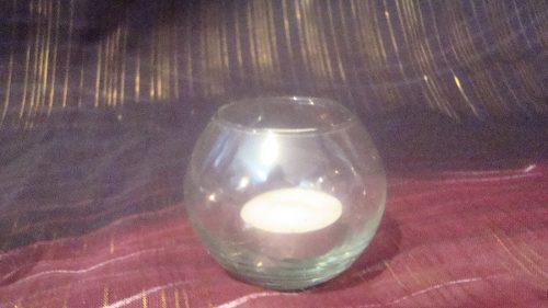 Porta velas de vidrio para adorno o danza folklore árabe