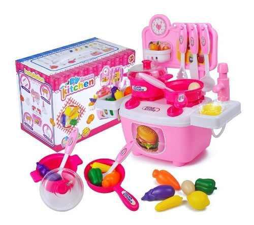 Cocina juguete niñas chef cocinita agua real fregadero