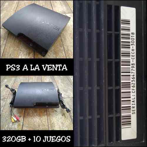 Consola sony playstation 3 500gb + juegos + control