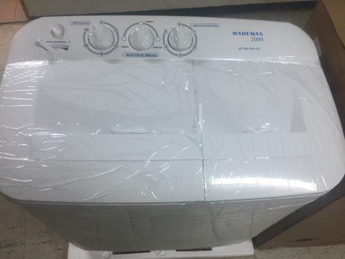 Lavadora doble tina mademax 8 kg tienda
