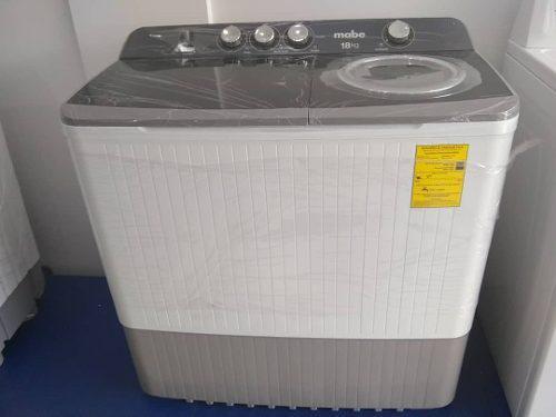 Lavadora semiautomática 18 kg blanca mabe