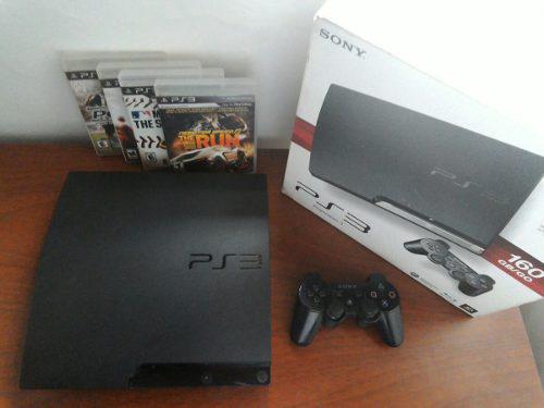 Playstation® 3 slim 160 gb (control + 4 juegos + hdmi)