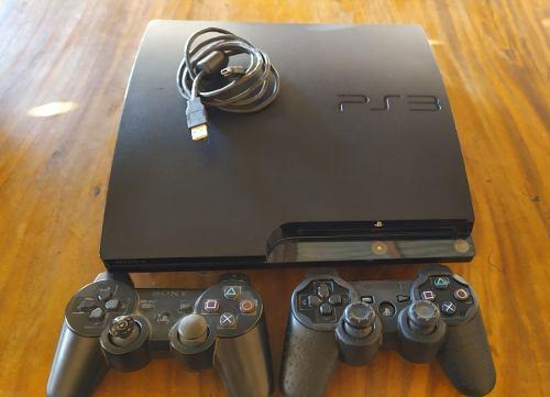 Playstation 3 slim 320gb + 2 controles + 16 juegos chipiado