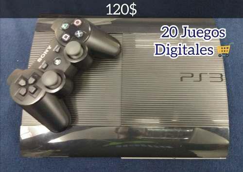 Ps3 superslim 250gb con 20 juegos (tienda física)