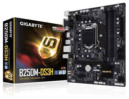 Tarjeta madre gigabyte ga-b250m-ds3h ddr4 intel 7ma sock1151