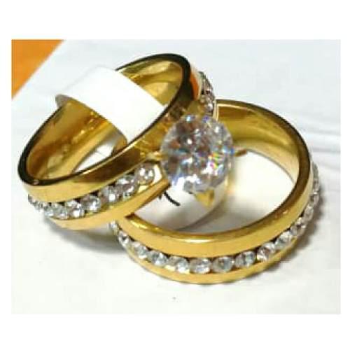 Anillos de acero inoxidable de matrimonio y compromiso