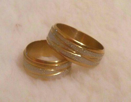 Anillos de matrimonio acero inoxidable dorado&plateado (5$)