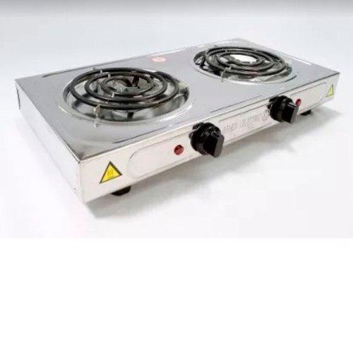 Cocina 2 hornillas general electric de acero alta calidad