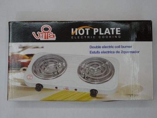 Cocina electrica portatil dos hornillas 110v calidad oficina