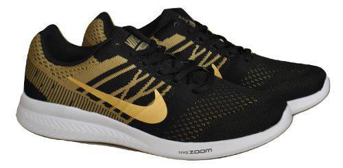 Kp3 zapatos caballeros nike zoom negro dorado