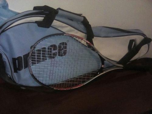 Raqueta de tennis wilson 3 7/8 + bolso prince