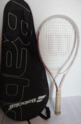 Raqueta tenis rosado wilson y bolso estuche babolatp20 jcd