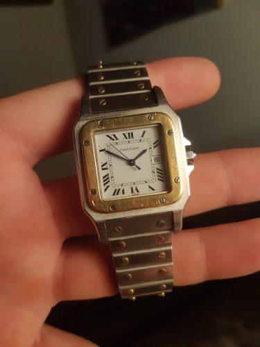 Bello reloj cartier santos galbee 30mm automatico acero oro