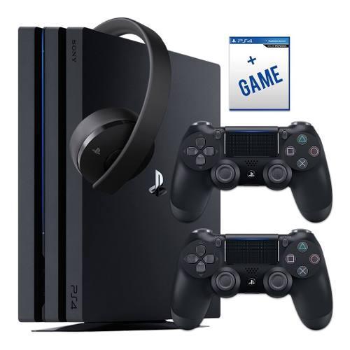 Ps4 pro 4k 1 tb 2 controles / juegos nuevas envio gratis