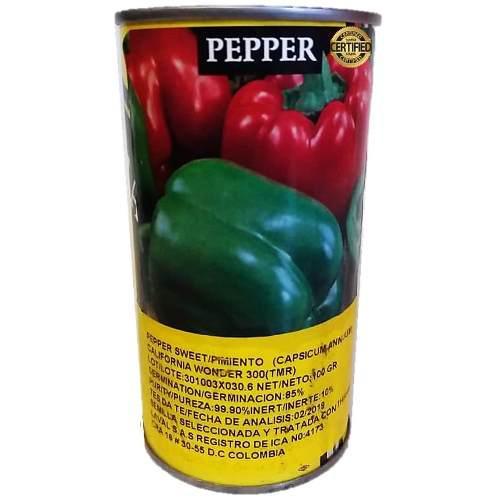 Semillas certificadas de pimentón lata de 100 gramos