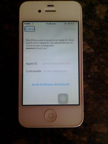 Iphone 4s 32 para digitel, bloqueado por icloud