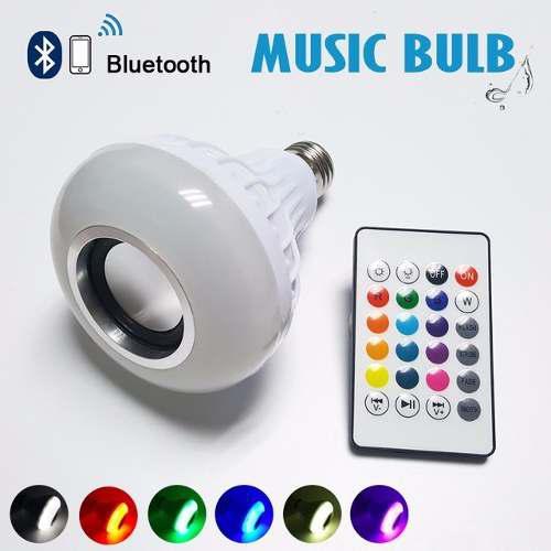 Bombillo led rgb con audio bluetooth y control multicolor!