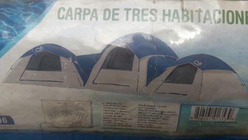 Carpa para 10 personas 3 habitaciones tipo iglu como nueva