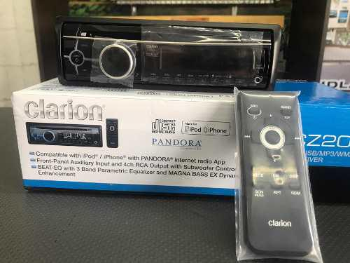 Reproductor clarion cd usb mp3 wma ipod iphone