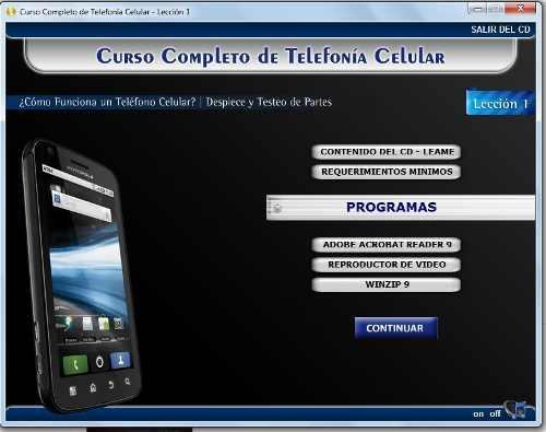 6 cd. curso multimedia completo de reparación de celulares.