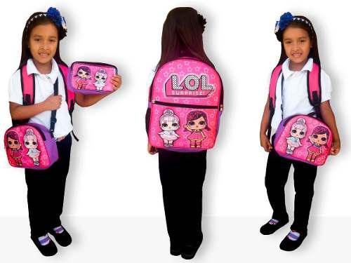 Bolso lonchera cartuchera escolar para niños y niñas