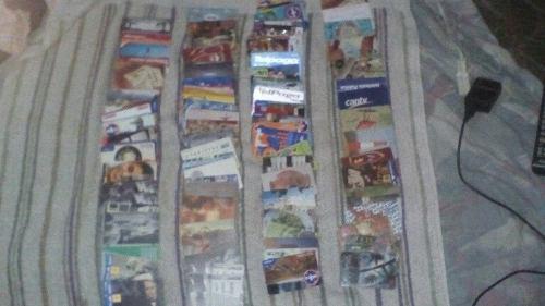 Lote de tarjetas telefónicas coleccionables 10 lechugas