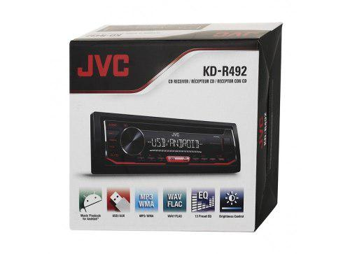 Reproductor jvc kd-r492 usb aux cd mp3 2 rca