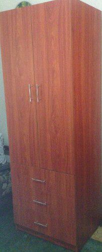 Closet casa lista madera 2 puertas 3 gavetas