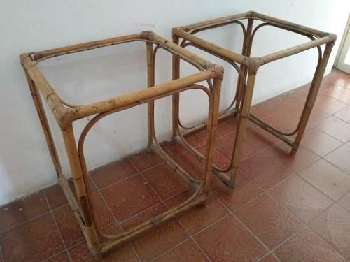 Muebles de ratan o mesitas madera sin vidrios