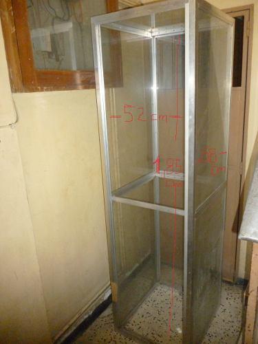 Vitrina exhibidora de aluminio y vidrio...!!!