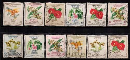 Estampillas colombia 1960 usadas