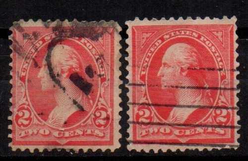 Estampillas eeuu 1894-95 usadas