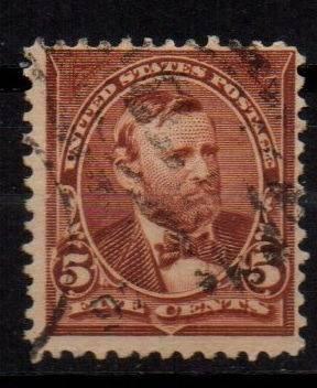 Estampillas eeuu 1896 usada