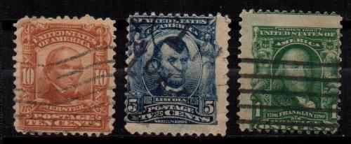 Estampillas eeuu 1902-03 usadas