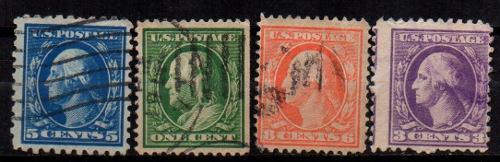 Estampillas eeuu 1908 usadas