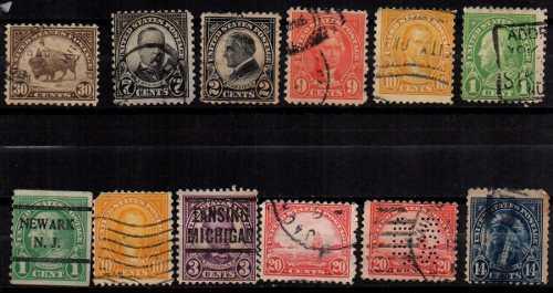 Estampillas eeuu 1923 usadas