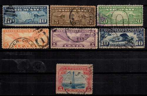 Estampillas eeuu 1926-34 2 usadas