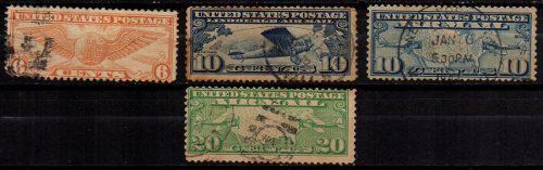 Estampillas eeuu 1926-34 usadas