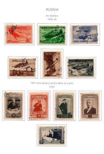 Estampillas urss 1945-46 usadas series completas