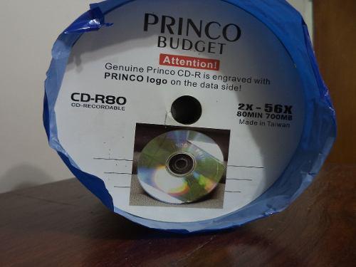 Torre de cd-r80 virgen, princo, 700mb, 43 cds + fundas