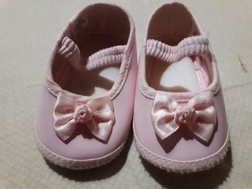 Zapatos de bebé niña 0-6 meses patente como nuevos