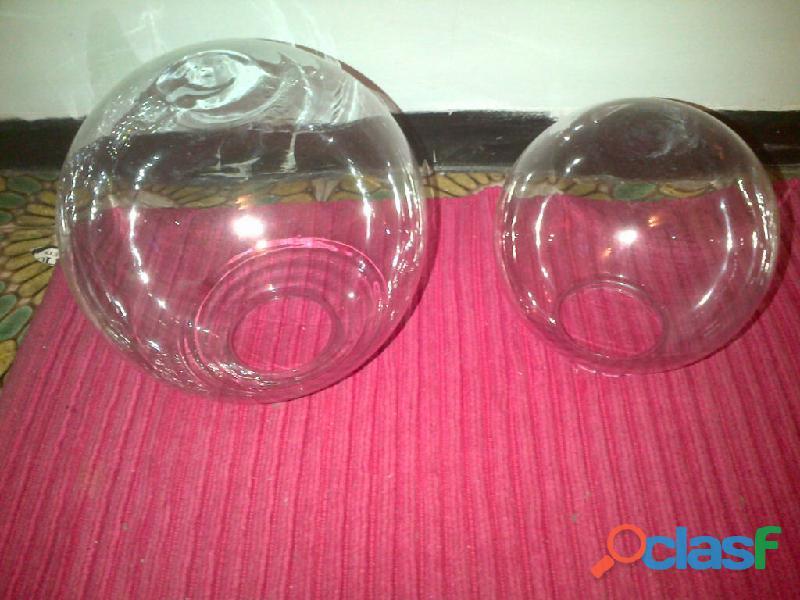 Globos de vidrio transparente