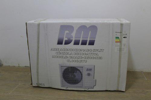 Aire acondicionado 12mil btu marca bm *nuevo*