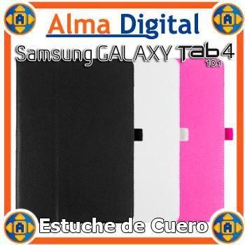 Estuche cuero samsung galaxy tab 4 10 t530 forro rosado