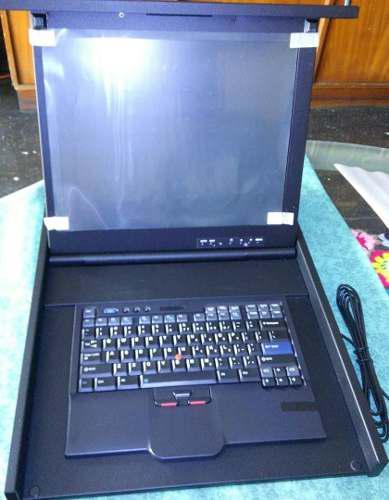 Monitor flat panel console kit modelo: ibm 172317x y teclado