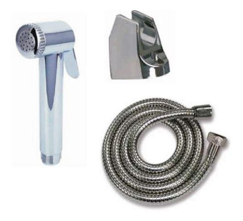 Kit ducha teléfono d plástico cromado manguera y base gb