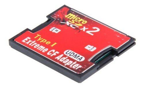 Memoria Adaptador 2 Zocalos Micro Sd Cf Co Drtw